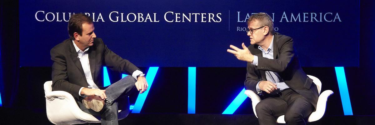 Columbia Global Center Debate in Rio de Janeiro, Brazil. (Photo/Douglas Engle, Australfoto) www.australfoto.com